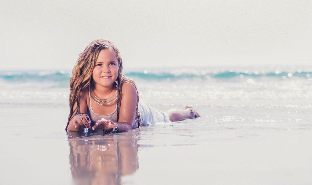 fotografia en la playa familia