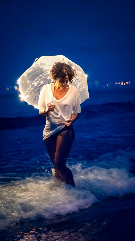 modelo fotografia en la playa