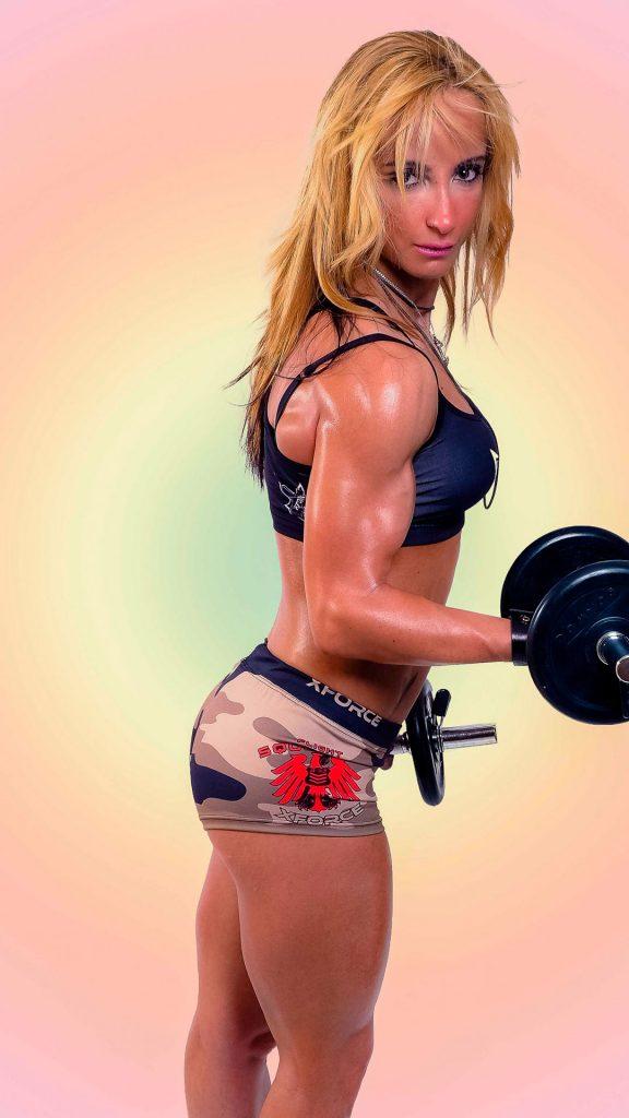modelo de fotografía fitness