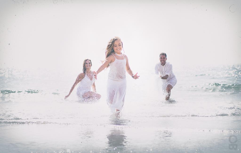 familia fotografia en la playa